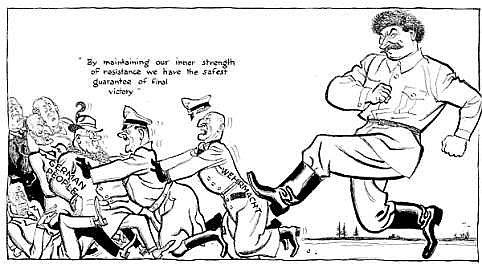 British Soldier Political Cartoon