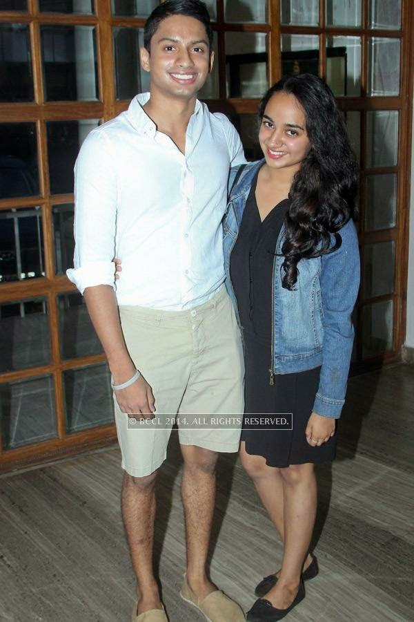 Sharan and Apoorva during the music launch of Rajeev Ravi's upcoming movie Njan Steve Lopez in the city.