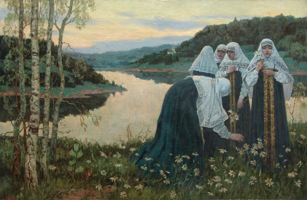 Mikhail Nesterov - Novices on the river bank