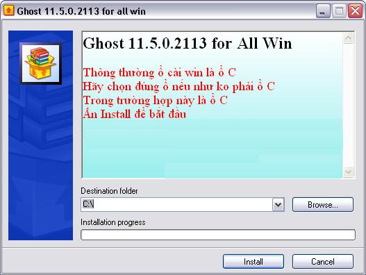 Hướng dẫn Ghost Win - Tạo và sử dụng file Ghost