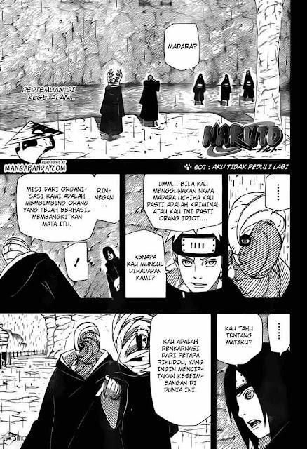 komik naruto 607 page 1