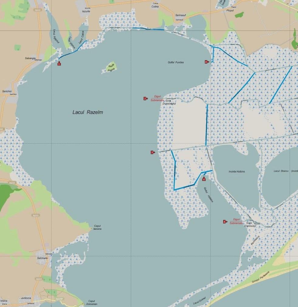 Iesiri din Delta Dunarii pe Razelm