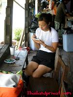 Malerarbeiten am Khlong