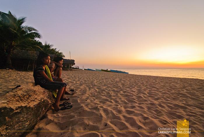 Patar White Beach Bolinao Sunset