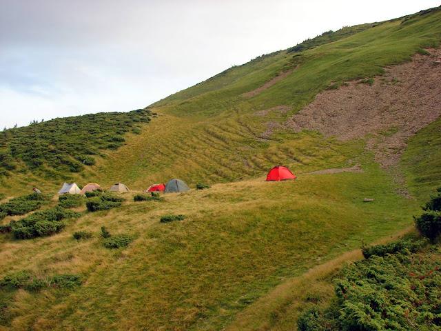 Наш лагерь возле горы Близница