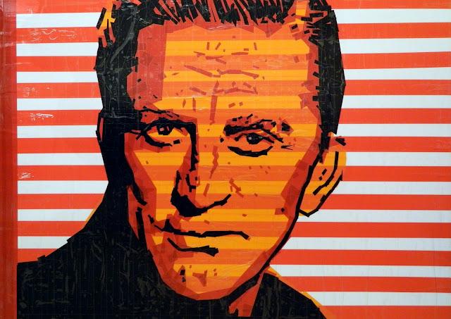 Кирк Дуглас bronya & sonya benigeler  tape art portrait of Kirk Douglas