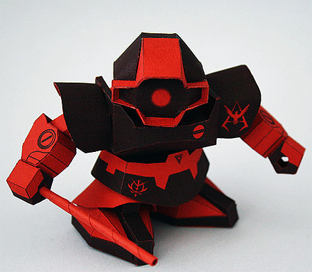SD Rick Dom Char Aznable Papercraft