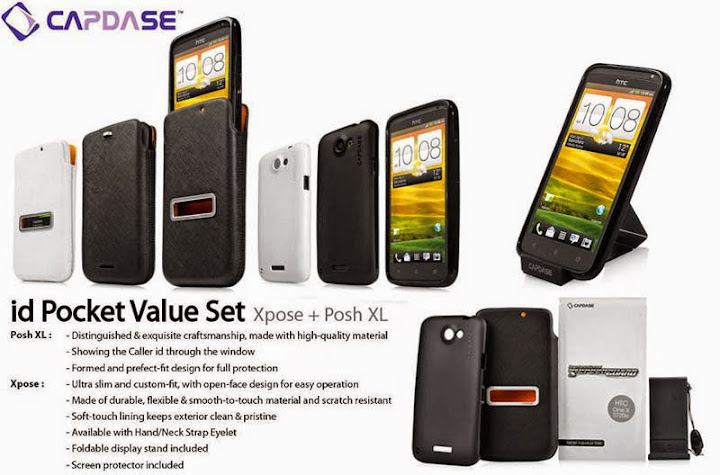 Capdase Softjacket Pouch Case Value Set HTC One X - X+