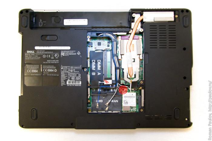 Как разобрать ноутбук Dell Inspiron 1525 7