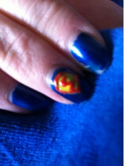 Superman nailart nailpolish