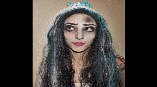 Maquillaje de halloween:novia del cadaver