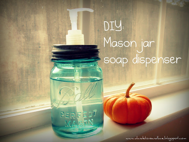 mason canning jar soap dispenser diy