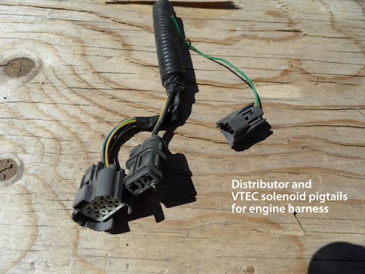 oem 92 95 eg civic vx wiring harness egr vtec 5 wire o2 ebay