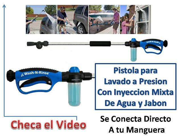 Pistola a presion mixta de agua y jabon para lavar tu auto - Pistolas de agua a presion ...