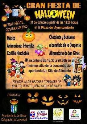 Cartel Gran Fiesta de Halloween en Gines