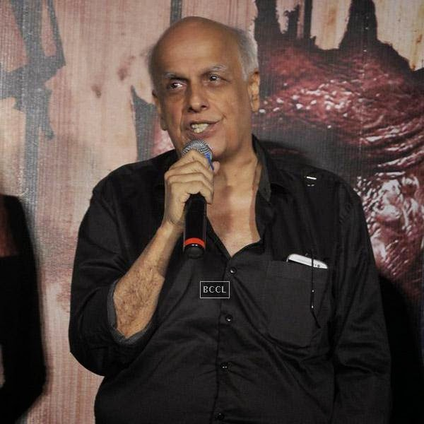 Mahesh Bhatt speaks during the trailer launch of Bollywood movie Creature 3D, held at PVR, on July 16, 2014.(Pic: Viral Bhayani)