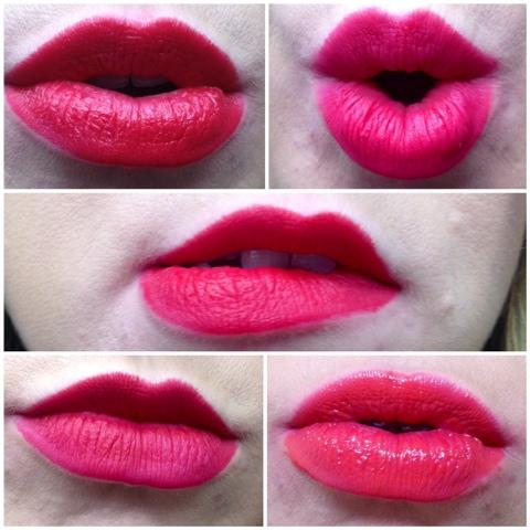 Dior Ange Blue, Mua Power pout in runway, Mac Ruby woo, Nars Cruella, Mac Relentlessly red.