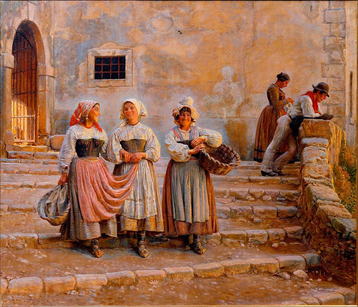 Kristian Zahrtmann - Young women transporting lime. Civiitá d' Antino - Google Art Project
