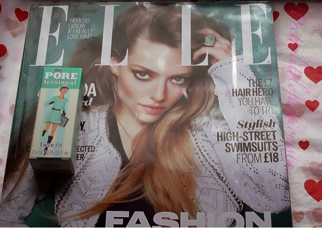 June ELLE Magazine and Benefit Porefessional