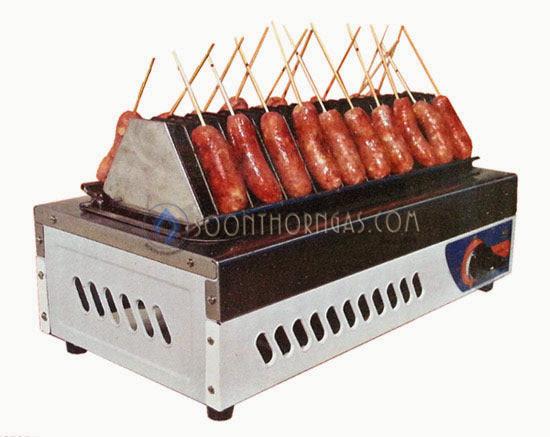 เตาย่างไส้กรอก ใช้แก๊ส สแตนเลสทั้งตัว BIGSUN (BBQ-A)