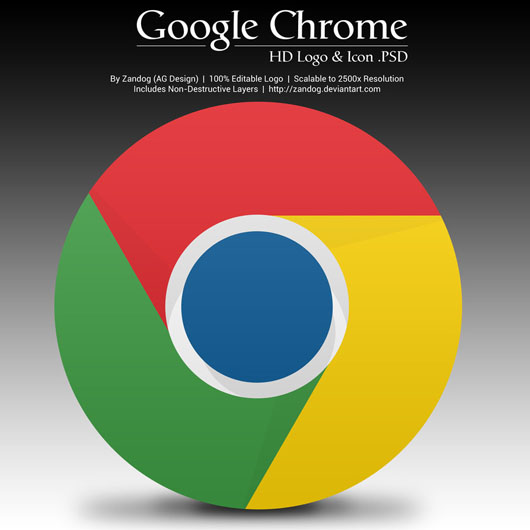Chrome logo download psd