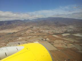 Anflug auf den Flughafen von Gran Canaria