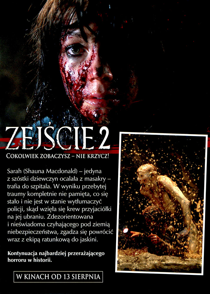 Ulotka filmu 'Zejście 2 (tył)'