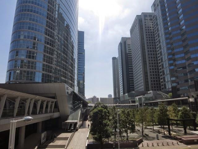 品川駅港南口にあるオフィスビル群たち
