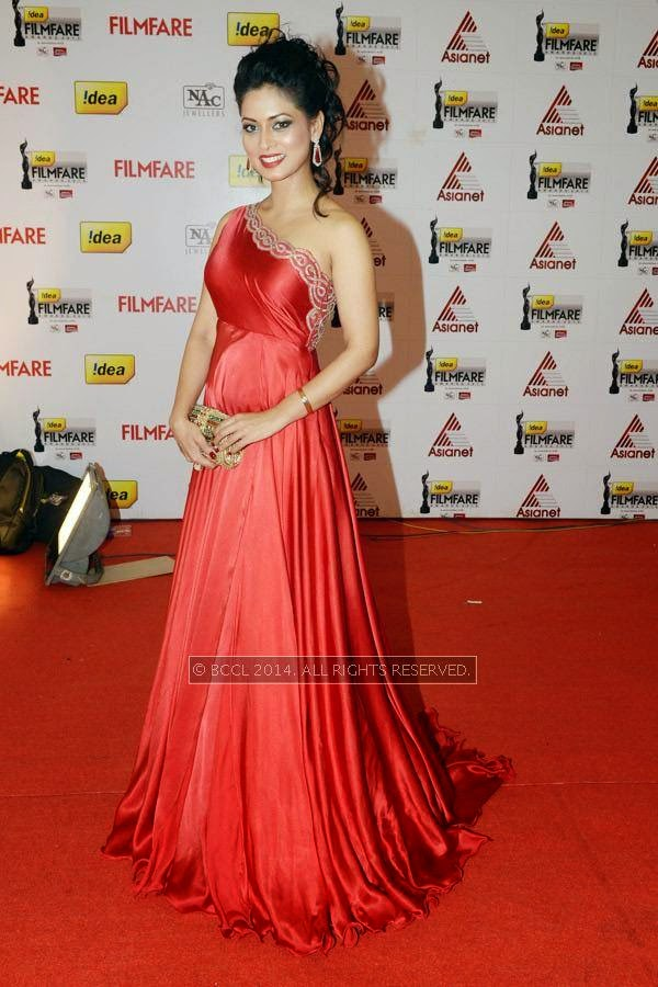 Pooja during the 61st Idea Filmfare Awards South, held at Jawaharlal Nehru Stadium in Chennai, on July 12, 2014.