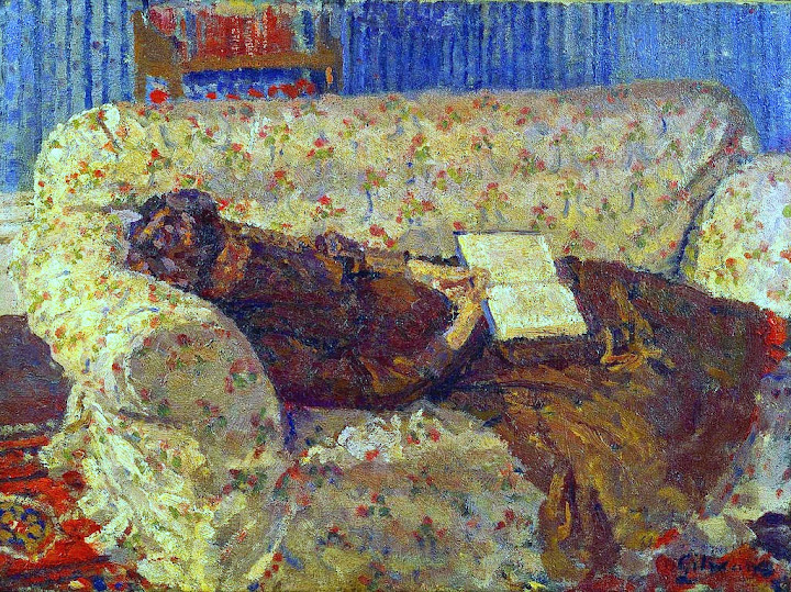 Harold Gilman - Lady on a Sofa