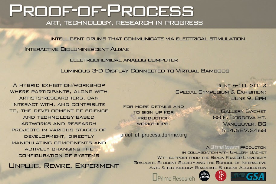 Proof-of-Process Exhibit, June 5-9, Gallery Gachet, Vancouver