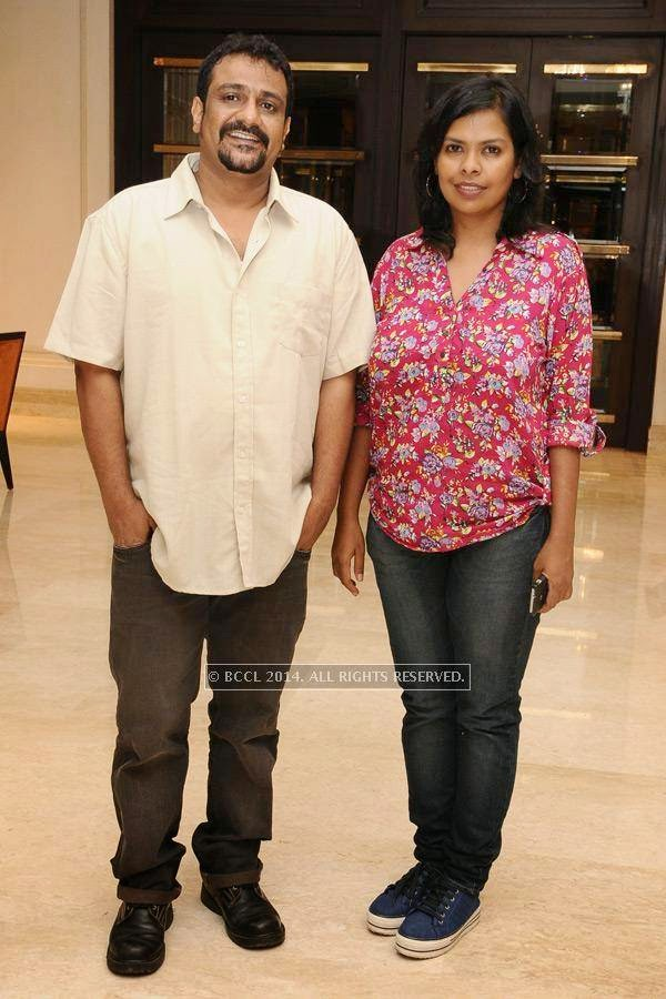 Pushkar and Gayathri during the birthday celebration, held at The Leela Palace, in Chennai.<br />