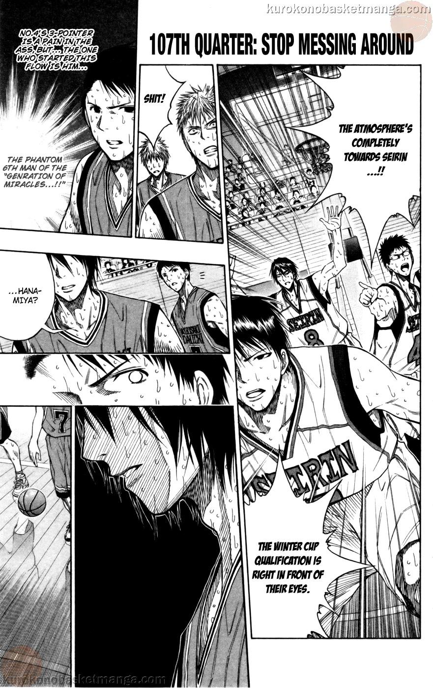 Kuroko no Basket Manga Chapter 107 - Image 01