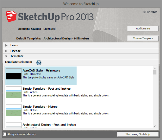 SketchUp - กำหนดการแสดงผลของ SketchUp ให้เหมือนกับการทำงานบน AutoCAD Sutocad09