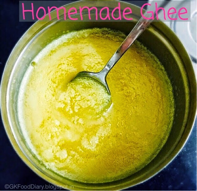 Homemade Ghee Recipe (From Butter) | How to Make Ghee at Homemade Ghee