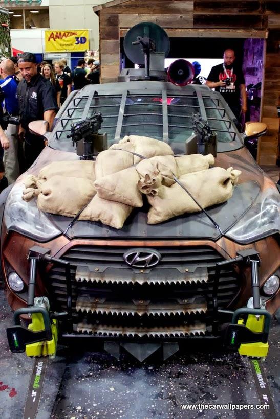 Hyundai Veloster Turbo Zombie Survival Machine