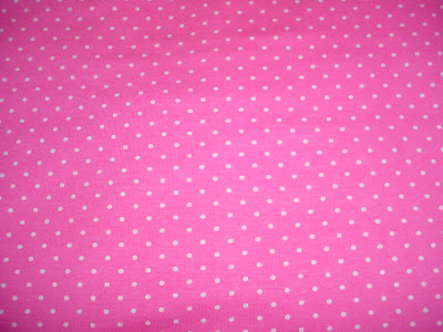 Tiny White Polka Dot on Hot Pink