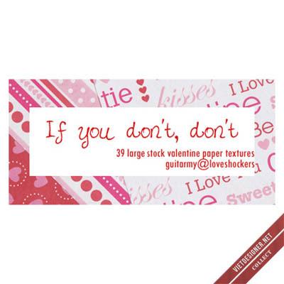 39 Valentine's Paper Textures