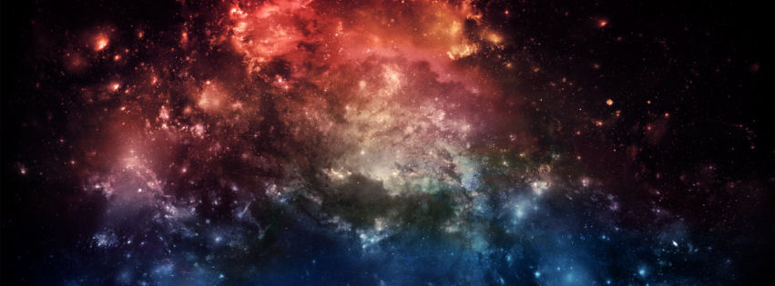 Fantasy space facebook cover