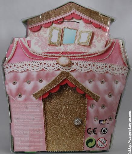 mini Lalaloopsy Jewel Sparkles en su caja (vista posterior)