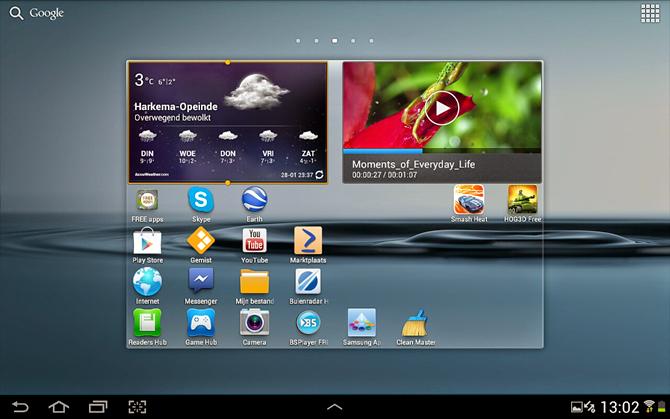 Android widget verwijderen van smartphone of tablet