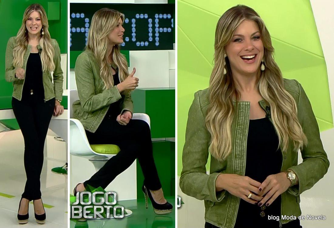 moda do programa Jogo Aberto - look da Renata Fan dia 23 de maio