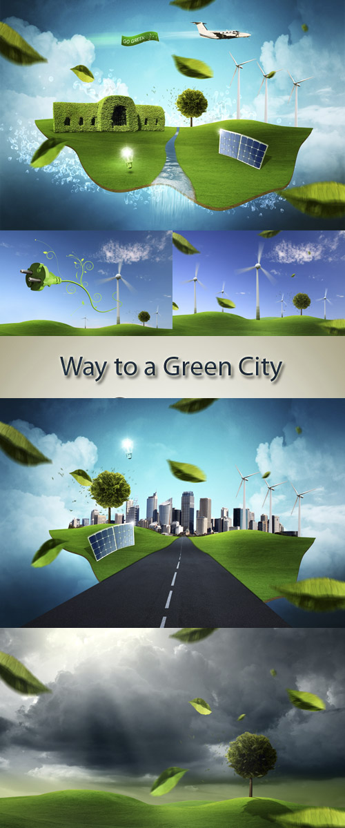 Stock Photo:Way to a Green City