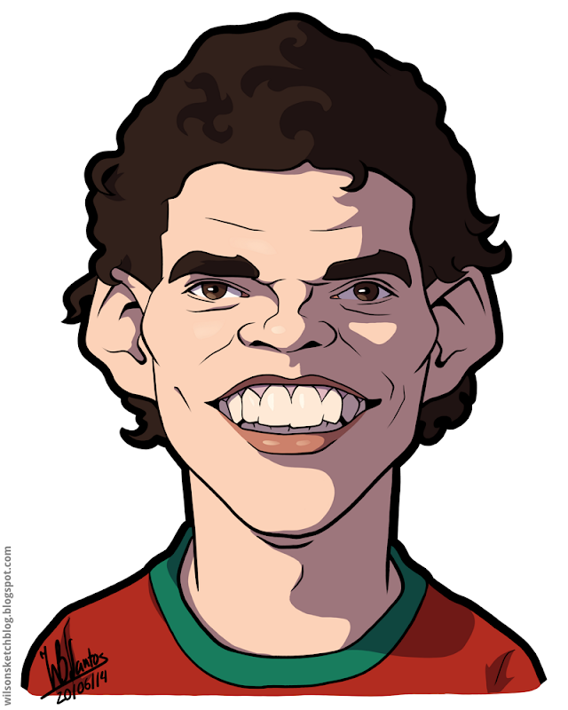 Cartoon caricature of Pepe.