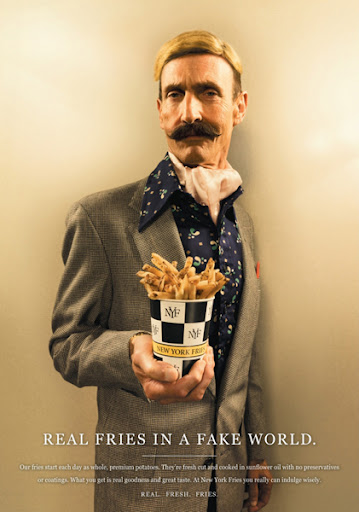 New York Fries ads