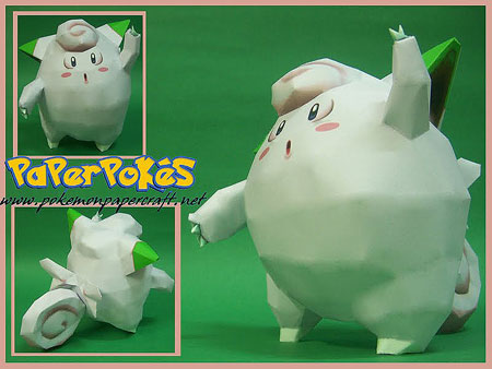 Pokemon Clefairy Papercraft