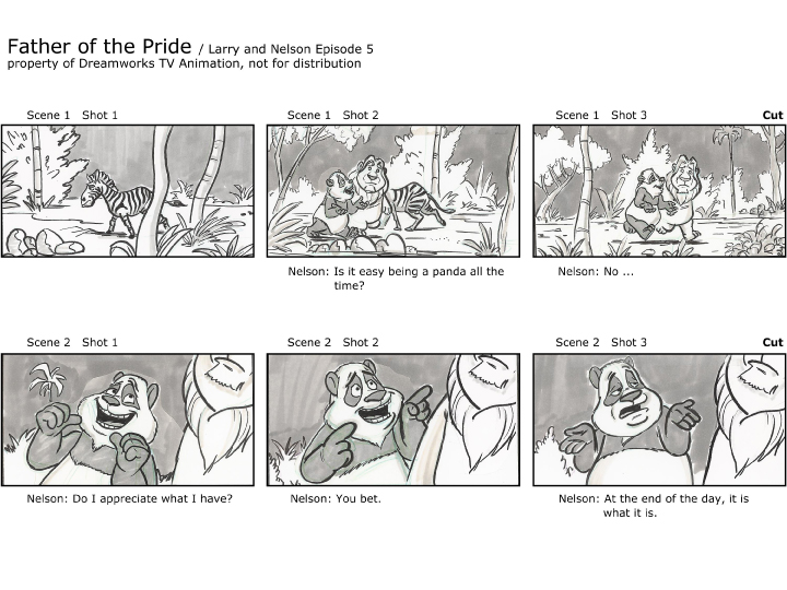 Brandon StrathmannS Artwork Professional Storyboard Sample