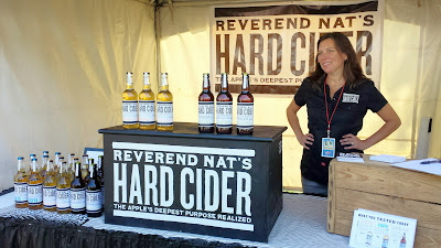 Reverend Nat's Hard Cider booth at Bite of Oregon