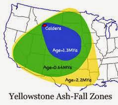 Grandes erupciones de Yellowstone