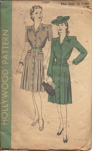 1940s shirt dress